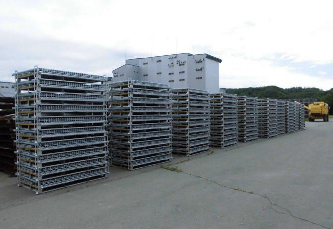 メッシュコンテナ納品セイカン 鉄コンテナ