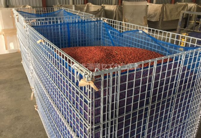 メッシュボックス 鉄コンテナ 小豆
