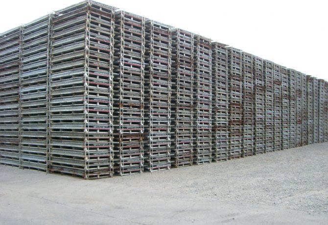 芽室 メッシュコンテナ 鉄コンテナ