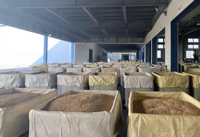 穀物用鉄コンテナ メッシュコンテナ ボックスパレット 米